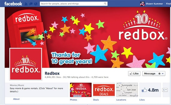 Redbox Facebook Birthday Rental