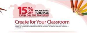 Top 10 list of Teacher Discounts