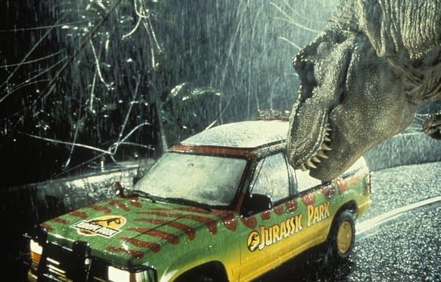 jurassic park movie stills car shot
