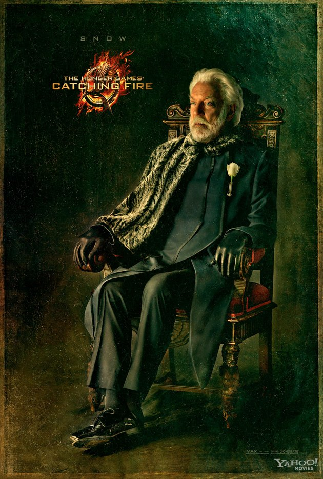 Donald Sutherland as President Snow in the final Capitol Portrait for The Hunger Games Catching Fire 2013