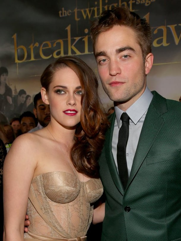 Kristen Stewart and Robert Pattinson arrive at the premiere of Summit
