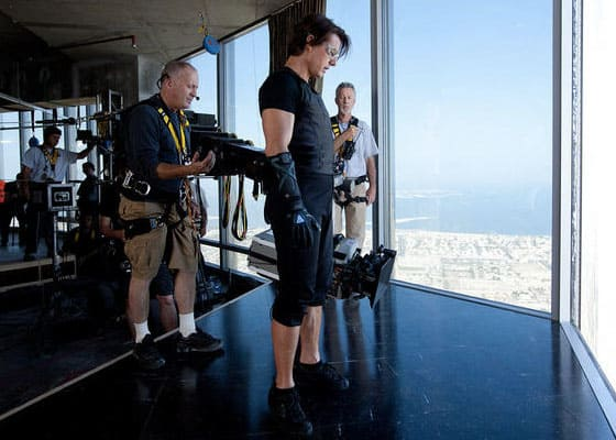 Mission Impossible Ghost Protocol Stills Tom Cruise Stunt Jump Behind The Scenes