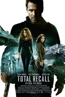 Total Recall Movie Poster August 2012